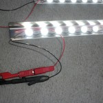 LED-Leiste im Testbetrieb